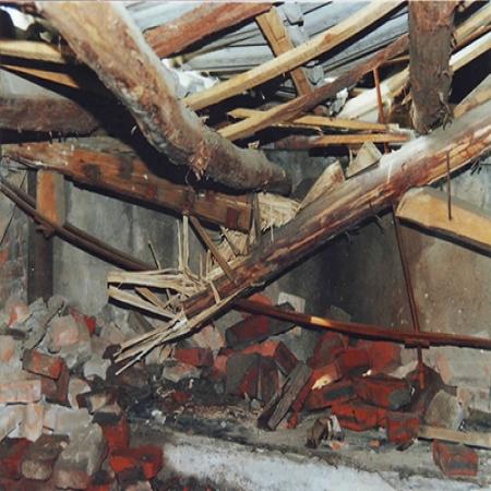 白蚁腐蚀的屋顶